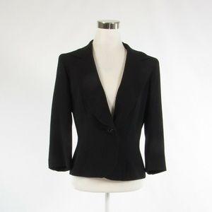 Etcetera black 3/4 sleeve jacket 10